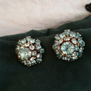 Jewelry - Antique  blue earrings. Screw backs